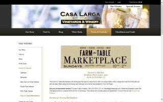 Casa Larga Vineyards Farm to Table to Marketplace