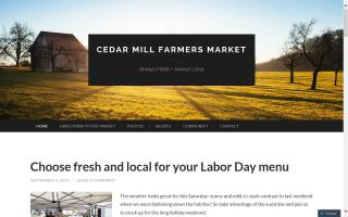 Cedar Mill Farmers Market, sponsored by Tualatin Hills Park and Recreation District