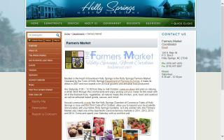 Farmers Market in the Holly Springs Village District