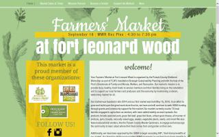 Pulaski County Sheltered Workshop's Farmers' Market at Fort Leonard Wood