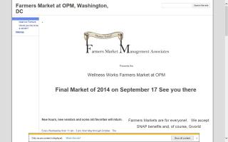 Wellness Works Farmers Market at OPM