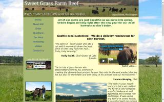 Sweet Grass Farm Beef