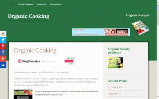 Organic Cooking Cook Book
