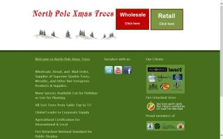 North Pole Xmas Trees