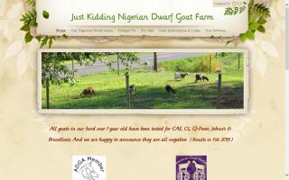 Just Kidding Nigerian Dwarf Goat Farm