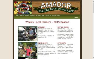 Amador Farmers' Market-- Sutter Creek