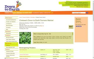 Chelsea's Down to Earth Farmers Market