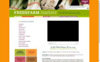 FRESHFARM Market, by the White House