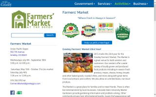 Greeley Farmers Market at the Depot
