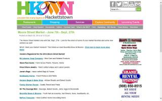 Hackettstown's Moore Street Farmers / Open Air Market