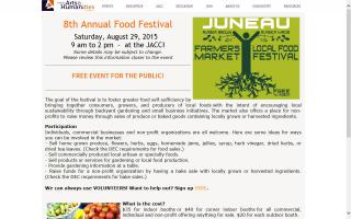 Juneau Food Fest, Farmers Market & Local Food Festival
