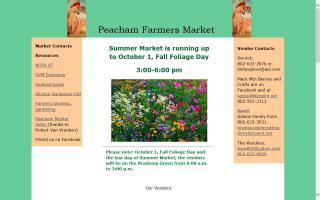 Peacham (VT)  Farmers Market - Indoor