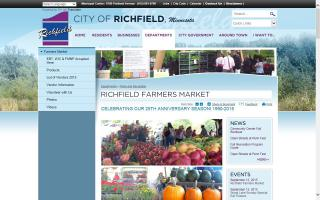 Richfield Farmers Market in Veterans Park