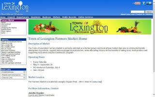 Town of Lexington Farmers Market