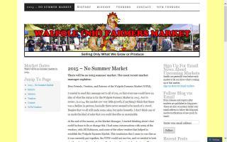 Walpole Farmers Market - Summer