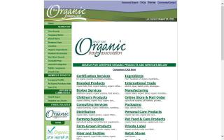 The Organic Pages Online