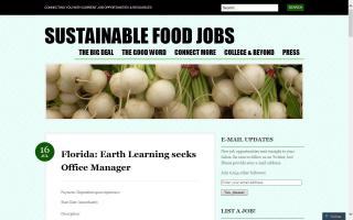 Sustainable Food Jobs