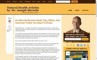 Dr. Mercola's Health - Blog