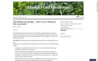Alaska Food Challenge - Blog